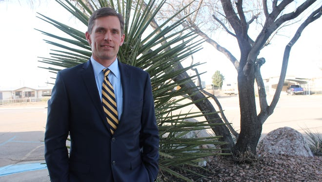 Sen. Martin Heinrich visited Alamogordo on Saturday to tour the facility that will house refugee children and to meet with Holloman Air Force Base officials.