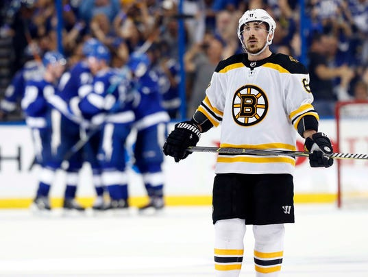 Boston Bruins forward Brad Marchand kept his tongue to himself during  Sunday s game 97cb5f06f