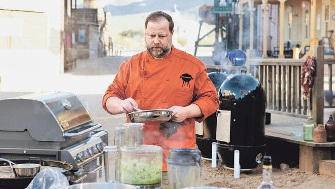 Carey Bringle of Peg Leg Porker will cook with the Fox Bros. at a Texas-style barbecue dinner.
