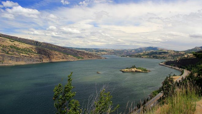 The Historic Columbia River Highway State Trail between Hood River and Mosier offers some outstanding views of the Columbia River Gorge.