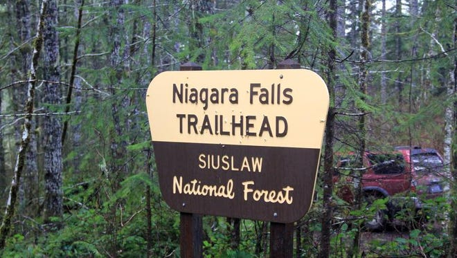 Signs on the road and on the trail lead visitors to Niagara Falls Trail.