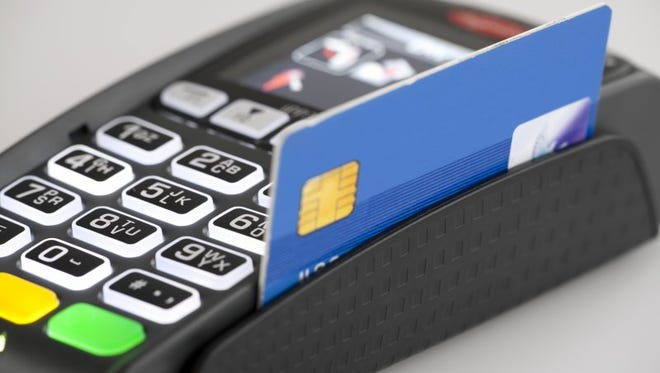 This Ingencio card reader can process magnetic-striped and chip-embedded cards