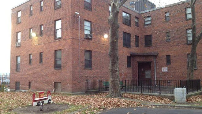 A pit bull terrier mauled a 5-year-old boy Nov. 10, 2013, in this Yonkers, N.Y., apartment building.