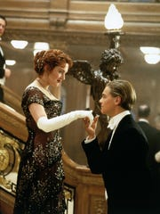 """Leonardo DiCaprio plays Jack Dawson and Kate Winslet plays Rose DeWitt Bukater in a scene from the motion picture """"Titanic."""" Photo by Merie Weismiller Wallace, Paramount Pictures/20th Century Fox [Via MerlinFTP Drop]"""