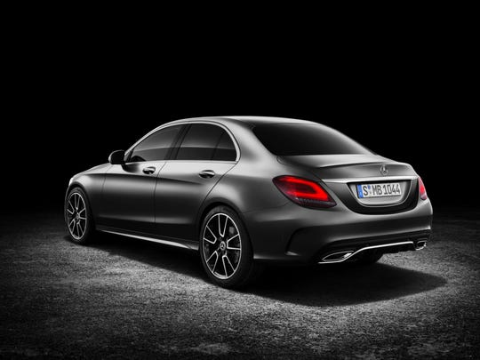 2019 Mercedes-Benz C300, from the rear