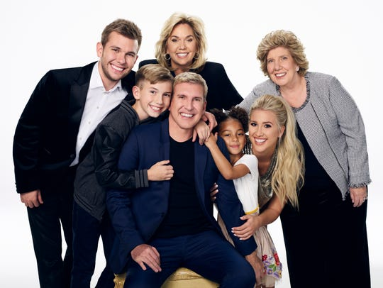 "Chase, Grayson, Julie, Todd, Chloe, Savannah and Faye Chrisley star in ""Chrisley Knows Best."""