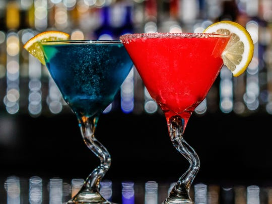 Splash Martini Bar offers some colorful after-dinner