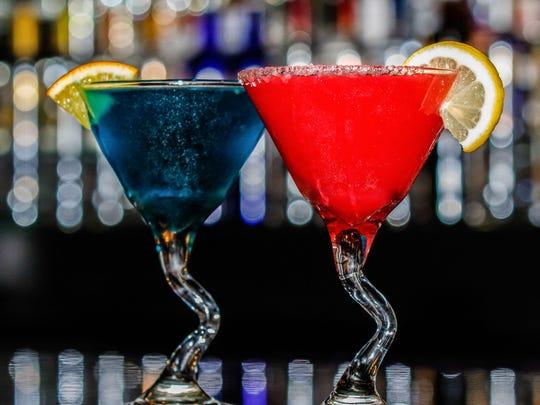 Splash Martini Bar offers some colorful after-dinner drink options.
