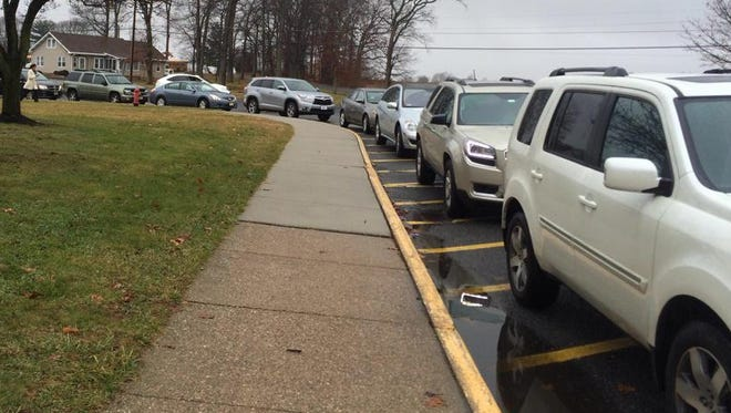 Parents lined up to pick-up kids at Clearview Regional High School after hearing word of a school lockdown.