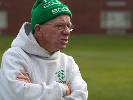 """Gordon """"Scotty"""" Martin is known for soccer, but he also coached swimming at NR-W for 32 years. The soccer field was renamed in his honor in 2009."""
