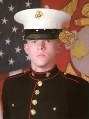 Cpl. Thomas Jardas, 22,  in his 2011 enlistment photo. He  died in January when a pair of Marine helicopters crashed in the ocean off of Hawaii. The U.S. Marine Corps announced April 14 that the recovered his body. It was returned to his family on Friday.