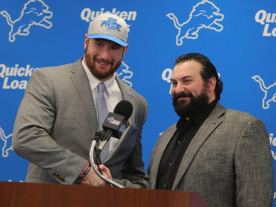 Lions coach Matt Patricia introduces first-round draft