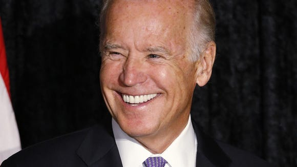 Vice President Joe Biden appears at the David Posnack Jewish Community Center in Davie, Florida, on Thursday. Speculation about a late entrance by Biden into the presidential race has spiked in recent weeks.