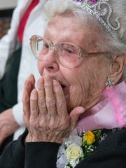 Marion Langley reacts to receiving 100 birthday greetings