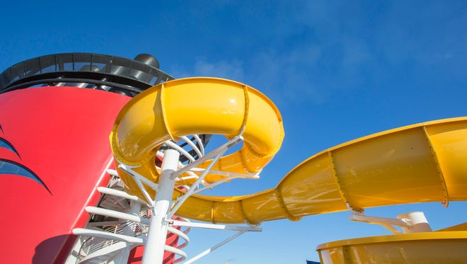 A massive makeover of Disney Cruise Line's Disney Magic over the past two months has brought a new water slide, Twist n Shout.
