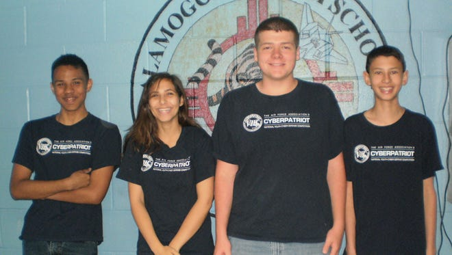 Alamogordo High School students JROTC CyberPatriot.
