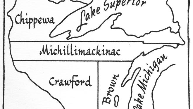 Map showing Wisconsin in 1839. Buchen, 1944. Image preserved by SCHRC.