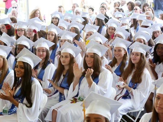 Members of the Maria Regina High School class 2018