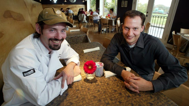 Jay Luther, left, and Chris Lowry soon after they opened Germantown Cafe in 2003