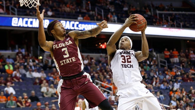 Florida State is NIT-bound after falling to defeat Virginia Tech 96-85 in the ACC Tournament.
