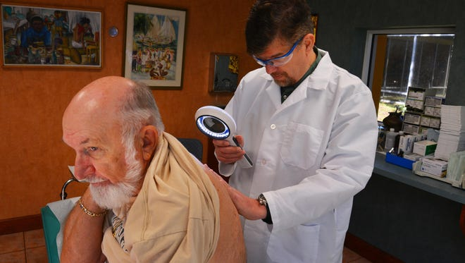 Getting checked by a dermatologist yearly is a good idea for those regularly out in the Florida sun.