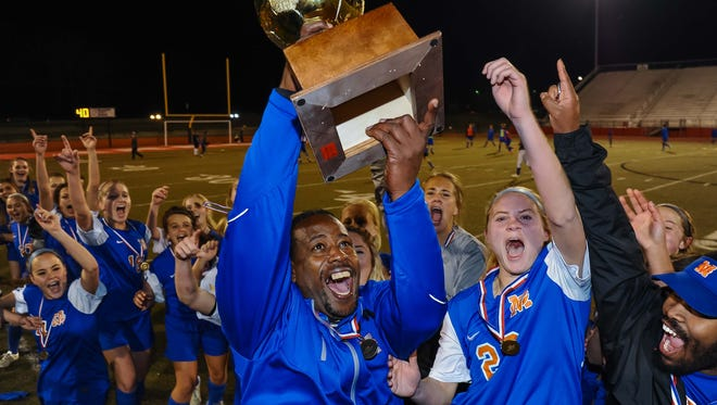 Cecil Hinds and the Madison Central soccer teams won two of the school's six state titles this school year en route to its fourth consecutive All-Sports Award in Class 6A.