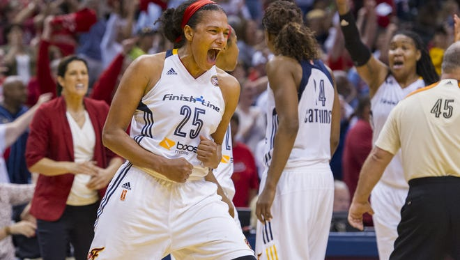 The Indiana Fever beat the New York Liberty last year to advance to the WNBA Finals.