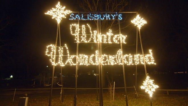 Salisbury's Winter Wonderland lit up