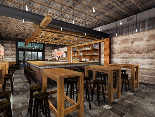 Furniture from Texas and reclaimed wood from a North Jersey barn add to the atmosphere in this rendering of the future Central Tacos & Tequila in Westmont.