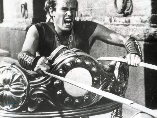 "Charlton Heston starred in the epic ""Ben Hur,"" based on the novel by Crawfordsville's Lew Wallace."