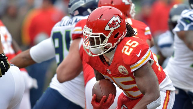 Chiefs RB Jamaal Charles was a thorn in Seattle's side Sunday.