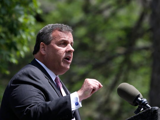 New Jersey Gov. Chris Christie speaks during a news