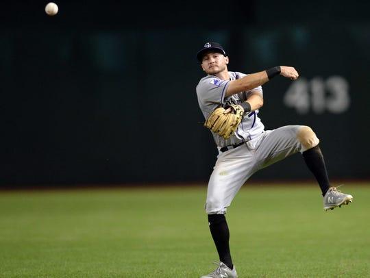 Rockies second baseman Garrett Hampson, a Reno High