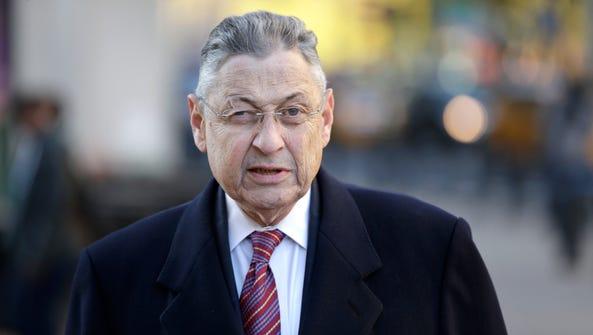 Former New York Assembly Speaker Sheldon Silver arrives