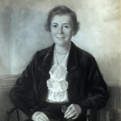 Portrait of Virginia Henry Holt at Chatham Hall, painted by one of the art teachers.
