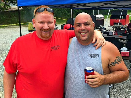 Fester's Fest Lance Flener and Bob Fallowfield, owner of Fester's Sportsbar, take a quick break for press at Fester's Fest held at Fester's Sportsbar & Grill in Mt. Vernon, Indiana. Bob organized this year's festival as a way to help raise funds and awareness for a family friend, Stephanie Henry, whose 4-year-old daughter, Sophia, is battling stage 3 neuroblastoma.