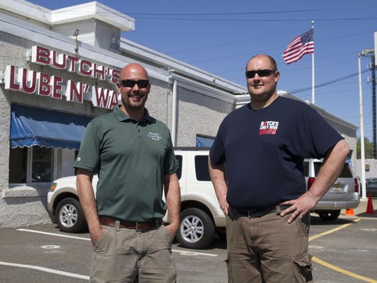 Chuck Siebert and his brother Brock Siebert help run the family-owned Butch's Lube 'N Wash in Red Bank.