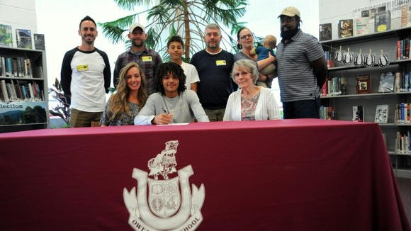 Owen senior Ty Lenk has signed to play college soccer for New Rochelle (N.Y.).