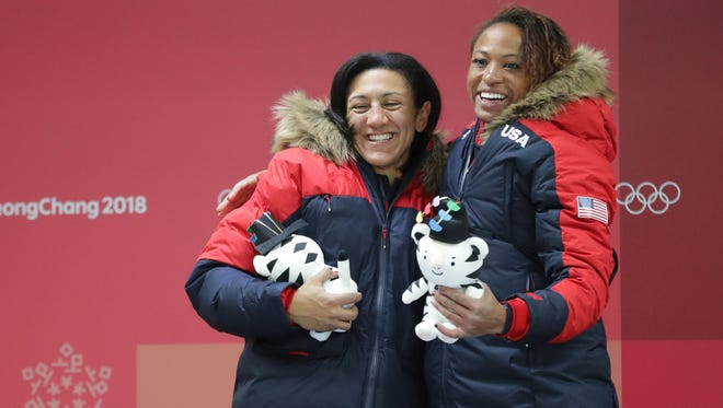 Elana Meyers Taylor and Lauren Gibbs won silver in women's bobsled.