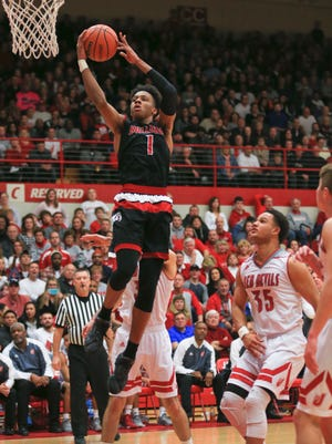 New Albany's Romeo Langford had 32 points with seven rebounds and four assists in the Bulldogs' 67-56 win over Jeffersonville Friday night.
