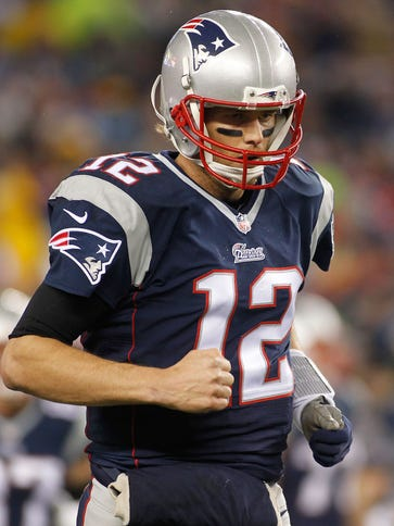 Brady during the AFC Championship Game.