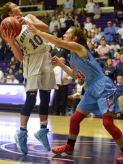 Northpoint Christian's Ashtyn Baker (10) shoots against