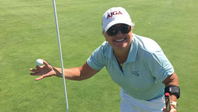 Oxnard resident Jill Laker was aced the 12th hole at River Ridge's Vineyard Course three times in the last 15 months.
