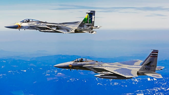 F-15 jets from the 173rd Fighter Wing and 142nd Fighter Wing will be conducting flyovers for Veterans Day around the state.