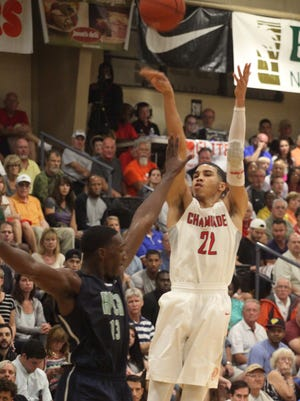 Chaminade senior Jayson Tatum accepted a basketball scholarship and signed with Duke.