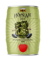 Five-liter Mini-kegs of Hopslam double IPA from Comstock-based