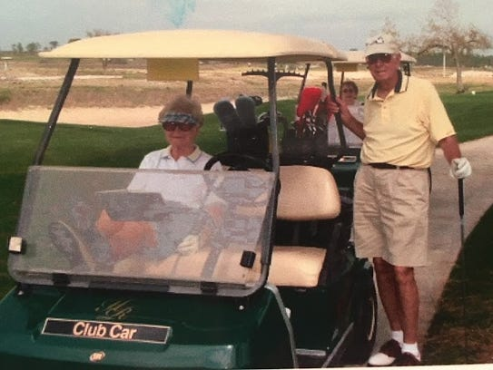 Marshall and Lucille Jacobs enjoyed playing golf together.