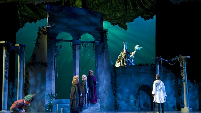 "Scenes from the Asheville Lyric Opera's performance of Mozart's ""The Magic Flute"" in 2010."