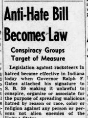 """Anti-Hate Bill Becomes Law"" was the headline on the"