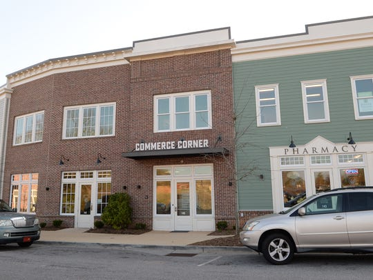 Commerce Corner and Pharmacy at Patrick Square in Clemson.